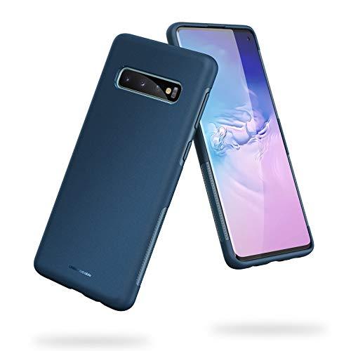 UNBREAKcable Cover Samsung Galaxy S10 - [Protezione Anticaduta, Antiscivolo] Ultra Sottile Silicone Liquido Glassato della Copertura Protettiva in TPU per Samsung Galaxy S10 6.1 Pollici - Blu Scuro
