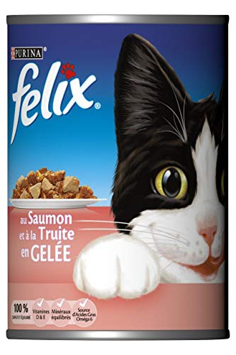 Felix Nasses Lachs- / Forellenkatzenfutter - 12 Dosen x 400 Gramm