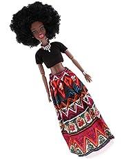 Baoblaze Juguete Muñeca Mujer Africana Diseño Realista Regalo de Cumñeaños Navidad para Niña