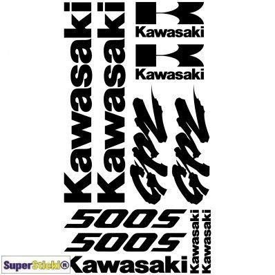 SUPERSTICKI gpz 500s Aufkleber A1 Sponsorset 4638 ca. 30x20cm Aufkleber Bike Auto Racing Tuning aus Hochleistungsfolie Aufkleber Autoaufkleber Tuningaufkleber Hochleistungsfolie für alle