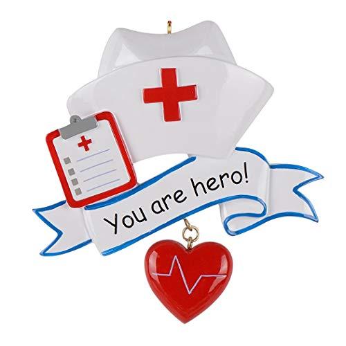 World's Best Nurse Personalized Christmas Ornament Pandemic Hero 2020 Covid Ornament