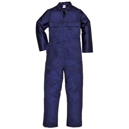 Portwest - Mono de trabajo polyalgodón Modelo EURO (S999) hombre/caballero - Ropa de trabajo (L x Regular/Azul marino)