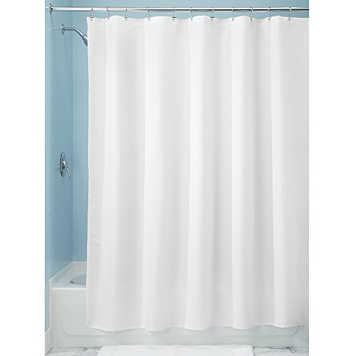 Price comparison product image iDesign Paxton Fabric Shower Curtain,  Polyester,  White,  183 x 183 cm