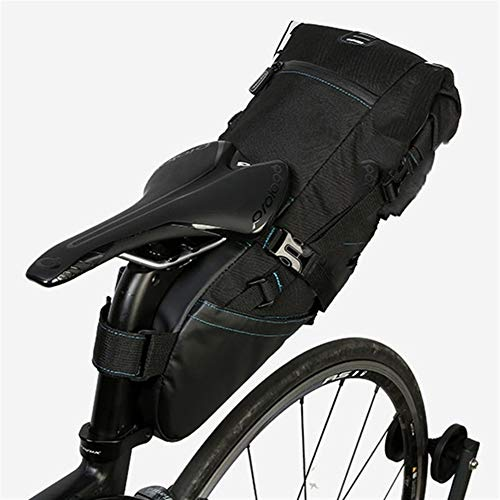 Bolsa Sillin Bicicleta Paquete Trasera de Bicicletas Tija de sillín Bolsa de Montar de la Bici del almacenaje del Asiento Pannier de Ciclo del Camino de MTB estanco Extensible Bolsas para Sillines