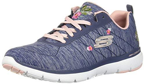 Skechers Flex Appeal 3.0-In Blossom 13074/NVPK Damen Schnürhalbschuh, Größe 40