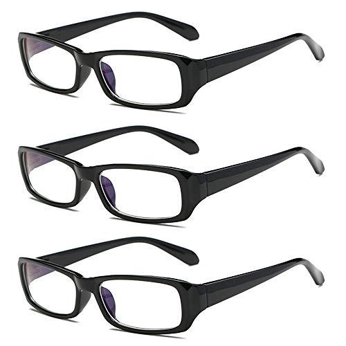 Rongchy 3 PRS Distanzbrille Herren Damen Kurzsichtige Brille Classic Style Myopia Brille -3,00 Stärke