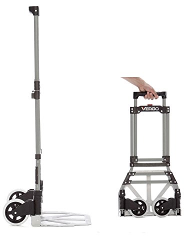 Vergo Industrial 150 lbs Capacity Steel Folding Hand Truck Dolly (Model S300S)