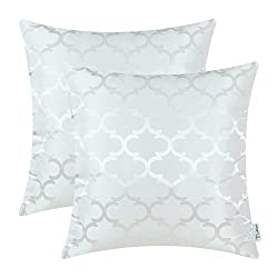 Silky pillows in white colors.
