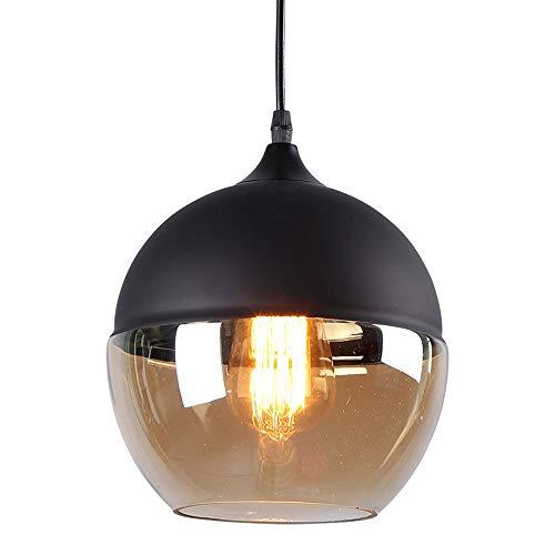 Louvra Suspension Luminaire Industriel Style Vintage Lampe Lustre Plafonnier Retro En Métal Verre Rétro E27 Edison Culot Pour Cuisine Salon Salle à Manger Chambre Couloir Escalier