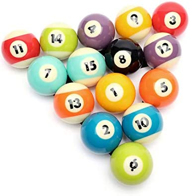 CUPPA Professional Pool Balls Billiard Balls Set Complete 16 Balls for Pool Tables Bright product image