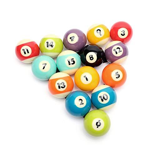 CUPPA Professional Pool Balls/Billiard Balls Set, Complete 16 Balls for Pool Tables (Bright)