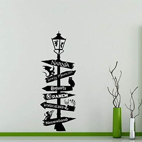Cartel pegatina pared cartel Potter Narnia Alicia en el país de las Maravillas cita signo Geek regalo vinilo pegatina arte decoración H