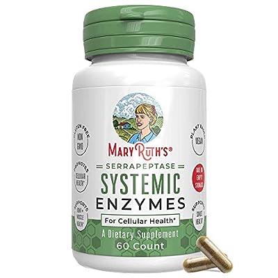 Serrapeptase Enzymes by MaryRuth's - Vegan Serrapeptase High Potency Sinus Pills - Allergy Support - Plant Based, Vegan Capsule - Enteric Coated - 60 Count