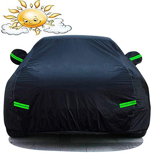 YU-CZ0 Outdoor Staub Car Cover Hochleistungs-wasserdicht Auto-Abdeckung Kompatibel mit Bentley,Schwarz,Mulsanne