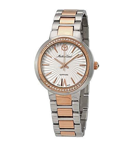 MATTHEY-TISSOT Reloj de cuarzo para mujer, correa de acero inoxidable, multicolor, 16 casual, modelo D3082RA