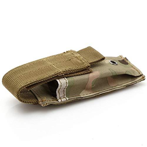 XFC-Cases, Poche Tactique Militaire Magazine Unique Poche Couteau Couteau Lampe de Poche Multi-Outil Gaine Airsoft Chasse Munitions Camo Sacs (Couleur : CP Camo)