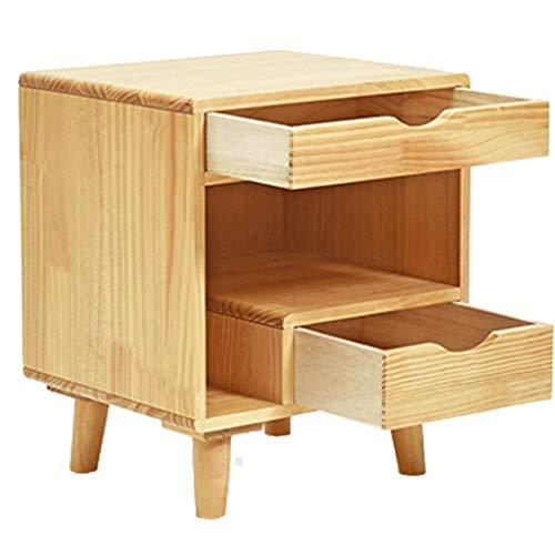 MQQ Slutbord massivt trä nattduksbord sovrum nattduksbord enkla moderna barnlådor kort skåp sängskåp furu trä färg lämplig