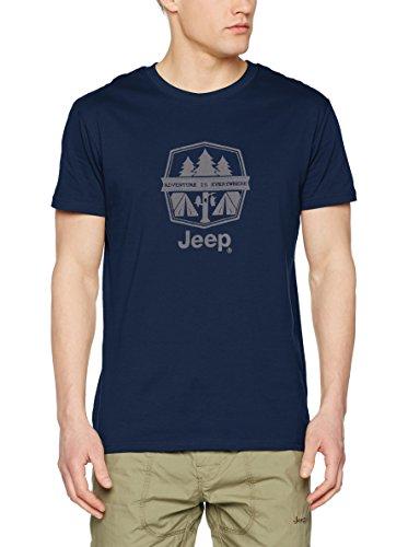 Jeep - Camiseta Adventure is Everywhere Flock Print J7S - BLU/Light Grey - M