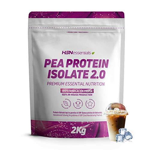 Proteína de Guisante Aislada de HSN | Pea Protein Isolate | Vegan Protein | Edulcorada con Estevia | Vegano, Sin Lactosa, Sin Gluten, Sin Soja, En Polvo, Sabor Café Frappé, 2000 gr