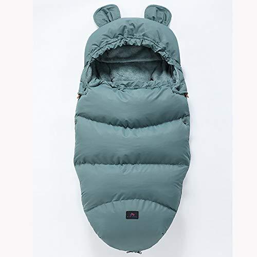 Bebé Saco de Dormir, Silla de Paseo Saco de Dormir, Saco de Dormir del bebé, espesante para Mantener el Calor y el frío, Azul 46 cm x 100 cm (sin Carrito),M