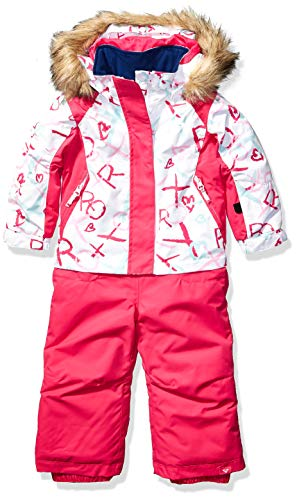 Roxy Snow Girls' Little Paradise Jumpsuit, Bright White School Day, 2
