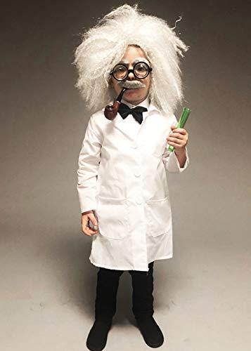 Magic Box Disfraz de científico Loco del Estilo de Einstein del tamaño de los niños Small (4-6 Years)