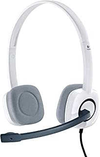Logitech H150 Wired Headset, Stereo Headphones with Rotating Noise-Cancelling Microphone, Dual 3.5 mm Audio Jack, In-Line ...