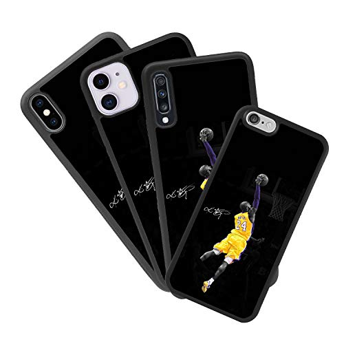 zoilastore Funda Personalizada de móvil para Apple iPhone X o XS Kobe Bryant de Goma Flexible TPU Borde Negro