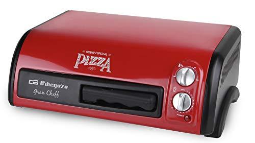 Orbegozo HO 150 - Horno para Pizza, 1300 W de Potencia, 15 litros de Capacidad, Temporizador 60 minutos, Bandeja Recoge Migas