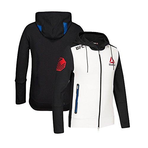 adidas Reebok Official UFC Fight Kit (White/Black/Blue) Walkout Hoodie Men's