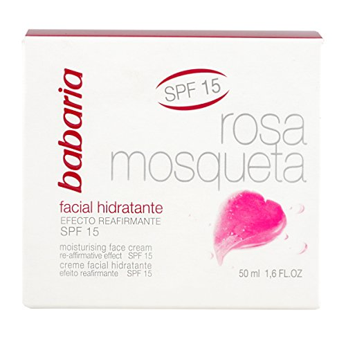 Babaria - Rosa Mosqueta SPF15 - Crema facial hidratante con efecto reafirmante - 50 ml