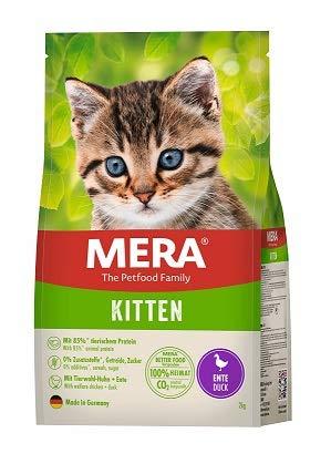 MERA Cats Kitten Ente - Trockenfutter für heranwachsende Katzen - getreidefrei & nachhaltig - Katzentrockenfutter mit hohem Fleischanteil - 2 kg