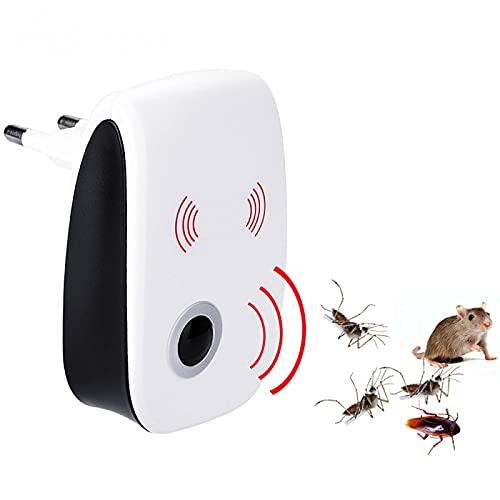 Baiteng Repelente de plagas ultrasónico - Enchufe de Interior Repelente de Mosquitos electrónico Cucaracha Mosquito Asesino de Insectos Repelente ultrasónico de plagas Ratones Arañas 4 Piezas