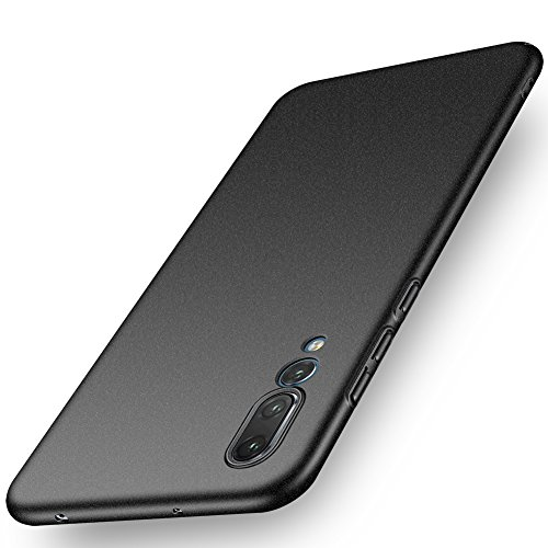 ORNARTO Funda Huawei P20 Pro, HW P20 Pro Carcasa [Ultra-Delgado] [Ligera] Mate Anti-arañazos y Antideslizante Protectora Sedoso Caso para Huawei P20 Pro(2018) 6.1' Arena Negro