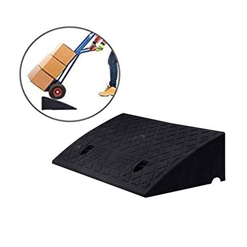 Baiyin Rampa Goma CarsTruck Cruce De Carreteras Rampa for Silla Ruedas Alfombra Escalera Engrosado Tarea Pesada Presión PVC Splicable, 5 Tamaños, 3 Colores (Color : Black, Size : 50X22X5CM)