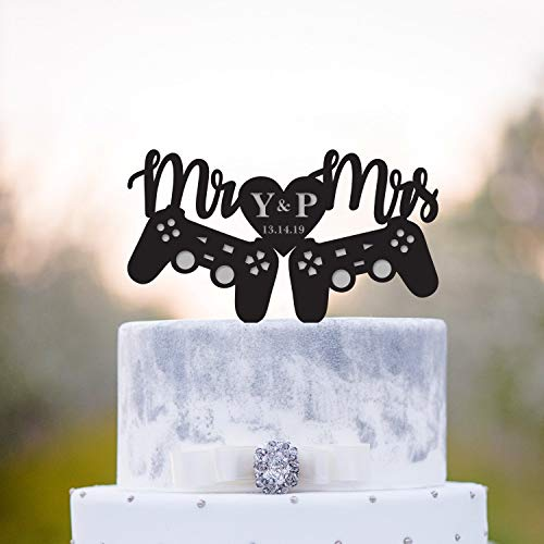 Cake Toppers Personalized Video Game Wedding Cake Topper Gaming Wedding Cake Topper Gamer Cake Topper Gamer Wedding Cake Topper Game Controller Cake Topper for Men Women