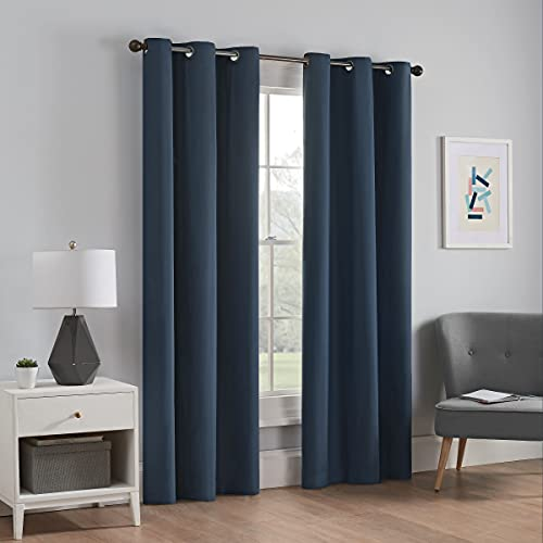 ECLIPSE Microfiber Total Privacy Blackout Thermal Grommet Window Curtain for Bedroom (1 Panel), 42...
