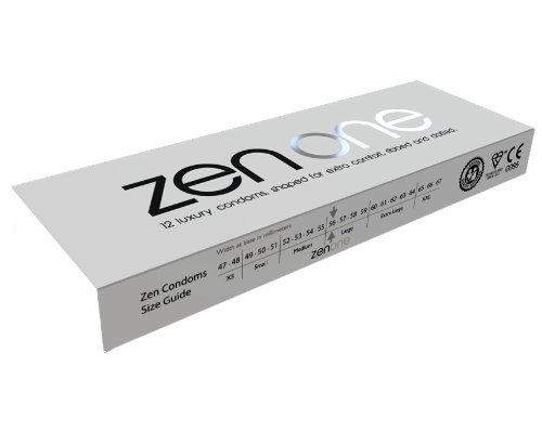 Zen One Kondome (Packung mit 4 Stück) - 48 Luxus-Rippen- und gepunktete mit extra Schmierung