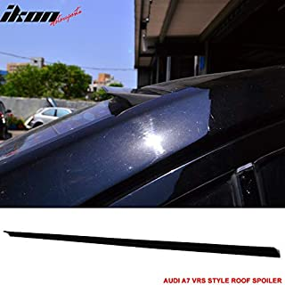 Billion_Store Fits 12-17 Audi A7 4G VRS Style Roof Spoiler Unpainted Black - PUF Cool Tuning
