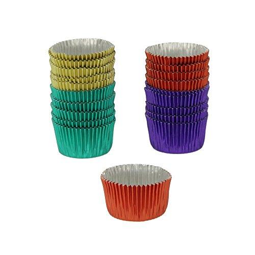 Metaltex 257783 Caissette Papier/Aluminium Multicolore,Diamètre 3 cm