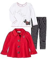 Kids Headquarters Baby Girls 3 Pieces Jacket Pants Set