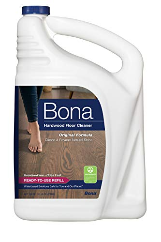 Bona Hardwood Floor Cleaner Refill, 128 Fl Oz (Pack of 1), Clear