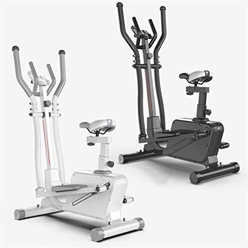 ZIZISHUANG Elípticas for Uso en el hogar, Entrenador de Cruzar con el iPad Holder, 3 en 1 caminadora, Bicicleta de Spinning, Paso a Paso, tamaño: 152 * 92 * 50 cm ZI916 (Color : White)