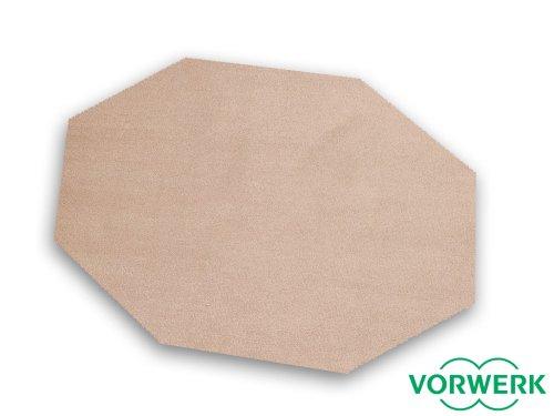 HEVO Laufgitter Einlage und Unterlage Vorwerk Bijou Sand Teppich 200x200 cm Achteck