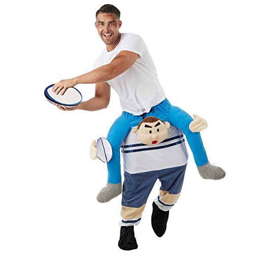Fun Shack Huckepack Rugbyspieler Costumi, Giocatore di Rugby sulle Spalle, One Size Uomo