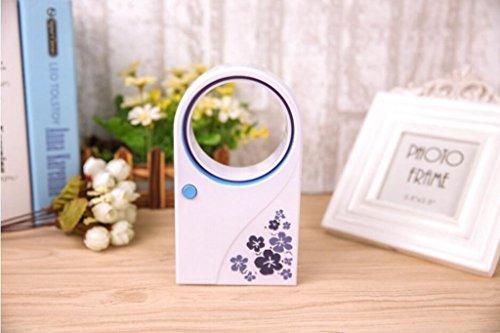 Miaoge usb kein Blatt Lüfter Silent Kühlung usb Batterie Dual kleine elektrische Ventilator mini Klimaanlage kein Blatt Lüfter 4*17*9.5cm