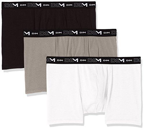 Dim Herren Coton Stretch Boxer X3 Boxershorts, Mehrfarbig (Noir/Gris/Blanc 788), XX-Large (Herstellergröße: 6) (3er Pack)