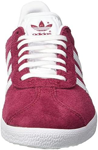 adidas Men's Gazelle' Gymnastics Shoes, Red Collegiate Burgundy FTWR White Gold Met Collegiate Burgundy FTWR White Gold Met, 6.5 us