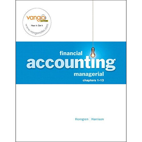 VangoNotes for Financial and Managerial Accounting, 1/e Volume 1 audiobook cover art