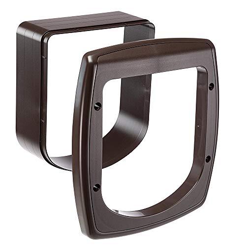 Ferplast Extension pour Porte pour Chats Chatière avec Puce Porte Basculante Swing Microchip Extension, 22,5 X 16,2 X H 25,2 cm, Profondeur 5 cm, Marron